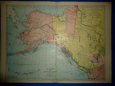 Vintage Circa 1904 Alaska Territory Map Antique Original & Authentic - Free S&H