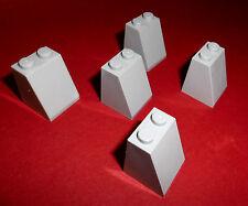 Lego (3678b) 5 schräge Stützen 65° 2x2x2, in hellgrau aus 4504 7965 3818 3368