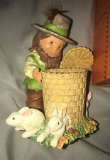 "Nib Nos #378887 Enesco Friends of a Feather Pilgrim ""Give Many, Many Thanks"""