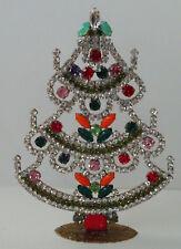 Christbaum Aufsteller Weihnachtsbaum Christmas tree Strass Gablonz Glas 16cm