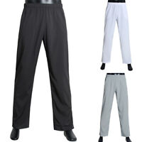 Men Elastic Waist Casual Solid Pants Jogging Bottoms Sports Trousers Sweatpants