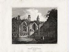 1814 stampa; Holyrood Cappella interna, Edimburgo
