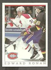 1993 OPC Fanfest Puck Canadiens' Edward Ronan, Card #45