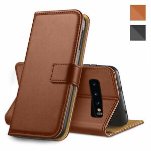 For Samsung Galaxy S9+ Plus Leather Flip Wallet Brown Case Magnetic Phone Cover