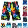 Fj- Uomo Pantaloncini da Spiaggia Pantaloni Colorati Coulisse Costume Bagno