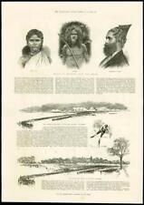 1887 - INDIA SRI LANKA CEYLON TAMIL VEDDAH CINGHALESE ENGLISH SKATING FENS (95)