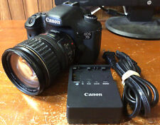 Canon EOS 7D 18MP 1080p DSLR Camera w/ 28-135mm Zoom Lens EF 1:3.5-5.6 IS Used