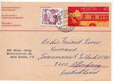 Suiza Entero postal Circulado año 1978 (DE-750)