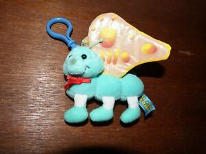 Lots a Lots a Legs Leggggggs baby mini soft plush figure toy butterfly blue 1998