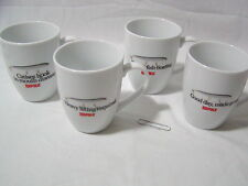 New Four (4)  Rapala Logo Coffee Cup Mug each with a different phrase Free Ship