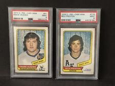 1976 OPC WHA Rich Preston RC & Frank Hughes RC. Both PSA 9 MINT. Low pop cards.