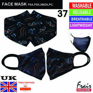 Face Mask PlayStation Reusable Breathable Washable Double layer Protection Cover