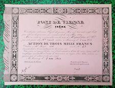 Dépt 38 Vienne & 07 Annonay- Construction de Pont Très Rare Action (120 ex) 1836