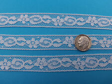 "French Heirloom Cotton Lace Insertion 5/8"" White Fashion/Craft/Doll Lace 21205"