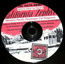 Western Pacific RR 47-48 Passenger Car & Zephyr  Diagrams PDF Pages on DVD