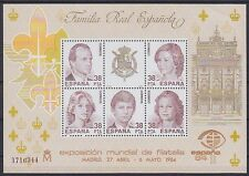 España bloque 27 **, rey casa royal family, correos frescos, mnh