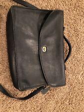 Womens Coach Small Briefcase/laptop Case Black