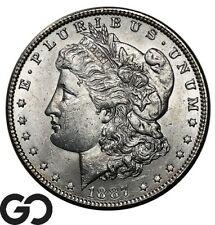 1887 Morgan Silver Dollar Silver Coin, Lustrous