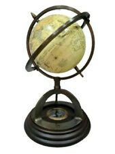 """12"""" Maps, Atlases & Globes with wooden tripod vintage home Décor & gifted item"""