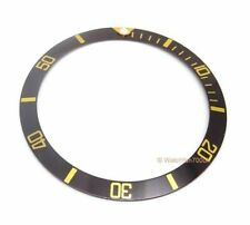 Divers Black Bezel Insert - For Seiko 7S26-0040 Watch 0.7mm Euro Quality