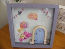 3D Fairy door Box Frame Picture - Gift - Fairy Holding Balloons.
