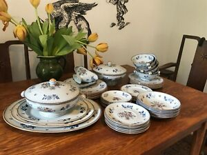 """Copeland Spode 1930's """"Chinese Rose"""" RARE grey dinner set VERY GOOD CONDITION"""