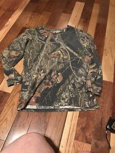 Boys Mossy Oak Camo Shirt Size XL