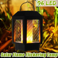 96 LED Solar Flame Flickering Lamp Outdoor Landscape Garden Decor Lantern Light