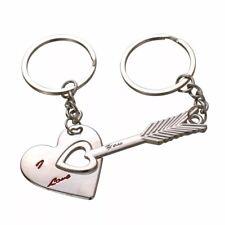 porta chiavi portachiavi uomo donna in metallo a cuore per coppia innamorati di
