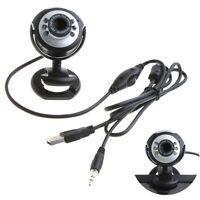 Adorable HD Webcam Camera Web Cam MIC USB 2.0 50.0M 6 LED PC   Camera