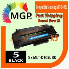 5 BLACK LASER TONER fits Samsung  MLT-D105S for SCX-4623FW SCX-4623F