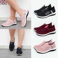 Womens Ladies Slip On Trainers Memory Foam Sneakers Casual Running Sport Shoes