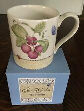 Wedgewood Sarah's Garden Queen's Ware Buttered Plums Coffee Mug England 1997