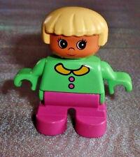 Lego Duplo Figur Kind mint - pink Haare blond child girl Mädchen aus 2762 2790