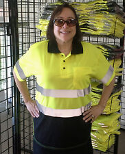 Reflective ANSI Class 2 safety Polo shirt (Tow truck,roadside,public works) Med