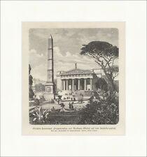 Olympia Zeustempel, Pergamonaltar und Denkmals Obelisk Berlin Holzstich E 13684