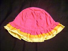 Gymboree LA PLAYA Girls Hat Bonnet Rhumba Pink Orange Yellow Sz 6-18 6 12 18 HTF