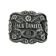 Jack Daniels Whiskey Belt Buckle No.7 3D Floral Pattern Fashion Metal Vintage