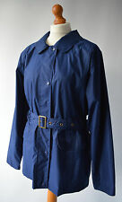Ladies Jack Murphy Navy Blue Lightweight Belted Jacket Size UK 18