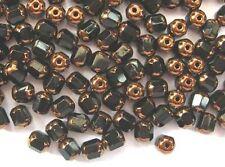 20 BLACK faceted lantern Czech glass beads - 6mm