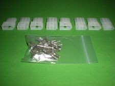 3 Pin Molex Connector Kit 4 Sets With18 22 Awg 093 Pins Free Hanging 0093