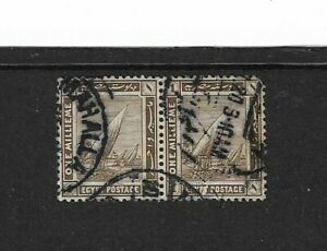 1914 Egypt Stamps - Nile Feluccas - Used Pair.