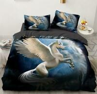 3D White Wings Unicorn Planet KEP5939 Bed Pillowcases Quilt Duvet Cover Kay