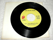 """Rolling Stones """"Ain't Too Proud To Beg"""" 45 RPM, 7"""", Nice NM!, 1980's Reissue"""