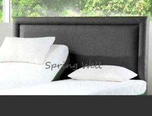 "Bumper Turin/linen Fabric Beautiful Design Bed Headboard in Sizes 26"" Height"