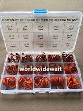 Red Silica Gel O-Ring Seals Kit 225PCS