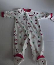 NWT Just One You by Carters Fleece Christmas Sleeper SANTA's FAVORITE  Sz 3 mo