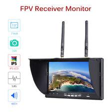 "FPV LCD Monitor Dual Diversity Receiver 7"" 5.8G 40CH DVR Antenna For DJI Drone"