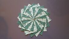 30 4x4 Green Quilt Fabric Squares~4066