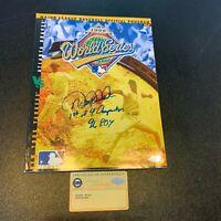 "Derek Jeter ""1st Of 4 W.S. ROY 1996 "" Signed 1996 World Series Program Steiner"